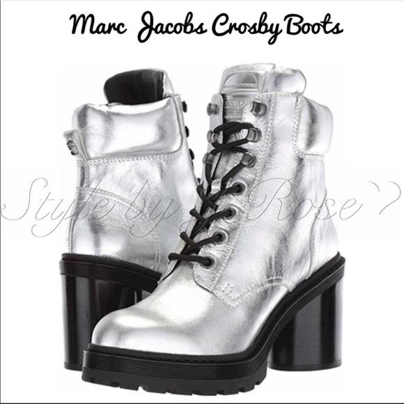 Marc Jacobs Shoes - NWOB Marc Jacobs Silver Combat Boots